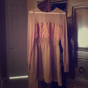 Free people size 2 burnt sienna / brown lace dress